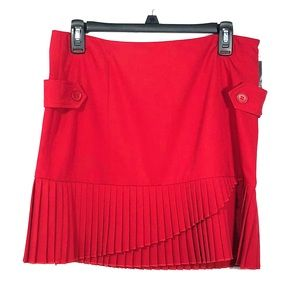 International Concepts Red pleated Skirt Size 8